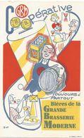 Buvard BIERES DE LA GRANDE BRASSERIE MODERNE - Food