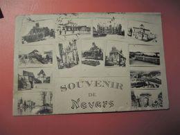 Cpa Multivues Voyagée En 1914_Souvenir De NEVERS - Nevers