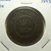 Brazil 40 Reis 1893 - Brésil