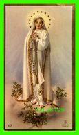 IMAGES RELIGIEUSES - LA VIERGE MADONNE  - ÉCRITE - CONTOUR OR - - Devotion Images