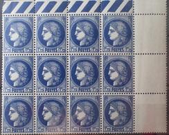 R1337/212 - 1938 - TYPE CERES - N°372 BLOC NEUF** CdF - France