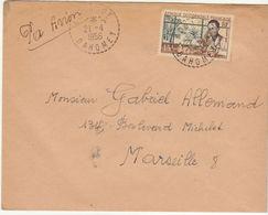 ESC/avion 15F FB Kouandé 1956 - Lettres & Documents
