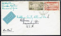 Syrie - 1948 - Affranchissement P. Aérienne 5 Et 29 - Enveloppe De Damas Pour Les U.S.A. - B/TB - - Syria