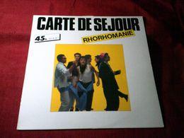 CARTE DE SEJOUR  ° RHORHOMANIE - 45 G - Maxi-Single