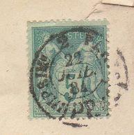 ESC 5c Sage O. Cad Imprimés 2 PP Paris 1884 (2 Scans) - Postmark Collection (Covers)