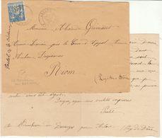 """Puy De Dôme : EAC 15c Sage T18 Arlanc, Boîte Rurale """"A"""" = Le Boucheron De Daranges - Postmark Collection (Covers)"""