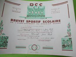 Brevet Sportif  Scolaire/Académie De CAEN/ Département De L'Eure//Duval JP/Saint André /1959   DIP241 - Diploma & School Reports