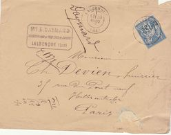 Lot : ESC 15c Sage O. T17 Lalbenque 1878 - Postmark Collection (Covers)