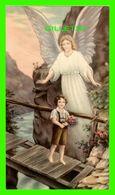 IMAGES RELIGIEUSES - UN ANGE PROTÈGE UN ENFANT SUR UN PONT DANGEREUX - KCgo 20/252 - - Devotion Images