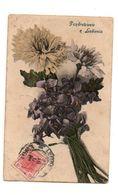 Carte Postale Bouquet De Fleurs Pozdrowienie Z Lubiena Avec Un Timbre à 10 Heller Et Oblitérée En 1907 - Flores