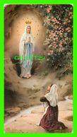 IMAGES RELIGIEUSES - UNE JEUNE FILLE À GENOUX DEVANT LA VIERGE - ÉCRITE - - Devotion Images