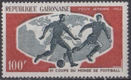 GABON - Coupe Du Monde De Football 1966 Poste Aérienne - Gabon (1960-...)