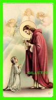 IMAGES RELIGIEUSES - JÉSUS DONNANT LA COMMUNION À UNE JEUNE FILLE , SURVEILLÉ PAR DES ANGES - NB No 241 - N.G. BASEVI - - Devotion Images