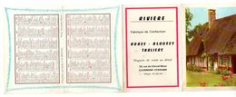 Calendrier 1966 Signes Du Zodiaque, Distances Principales Villes Entres Elles - Rivière Fabrique De Confection Robes... - Calendriers