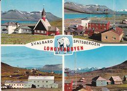 """SVALBARD SPITSBERGEN LONGYEARBYEN. NORVEGE CPSM AVEC OBLITERES """"BALLONGER OVER ARKTIS"""" ANNEE 1973 -LILHU - Airmail"""
