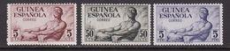 GUINEA 1952 - Serie Nueva Sin Fijasellos Edifil Nº 311/313 - MNH - - Guinea Espagnole