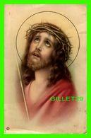 IMAGES RELIGIEUSES - FIGURE DE JÉSUS QUI PLEURE AVEC LA COURONNE D'ÉPINE - ÉCRITE - NR 01066 - 1934 N. G. BASEVI - - Devotion Images