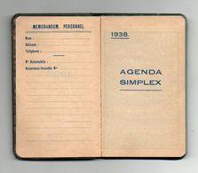 Agenda Simplex De 1938 Offert Par Le Bar Léon Spécialités De Vins Du Pays Clermont-Ferrand - Format : 6.5x11 Cm Vierge - Kalenders