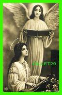 IMAGES RELIGIEUSES - LA VIERGE QUI JOUE DE L'ORGUE ET UN ANGE QUI CHANTE - NB  No 094 - ÉCRITE - - Devotion Images