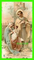 IMAGES RELIGIEUSES - JÉSUS, MARIE, JOSEPH PRIEZ POUR NOUS - CARTE DENTELÉE - ÉCRITE - - Devotion Images