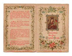 Image Pieuse Invocations à Notre-Dame Du Perpétuel Secours - Saudinos-Ritouret - Format : 12x8cm Soit 4 Pages - Devotion Images