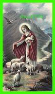 IMAGES RELIGIEUSES MINI - JÉSUS GARDE DES MOUTONS DANS LA MONTAGNE - KCgo No 66/6 - ÉCRITE - - Devotion Images