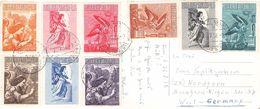 VATIKAN - POSTKARTE Mit AIRMAL 1956  /ak699 - Luftpost