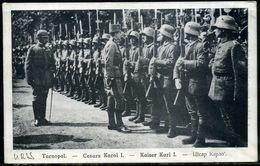 Cpa  Roumanie  Le Roi Carol 1er  à Tarnopol, Beau Plan - Romania