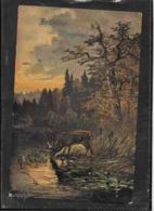 AK 0520  Fröhliche Pfingsten ( Jagd , Hirsch ) Um 1912 - Pentecôte