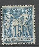 SAGE N° 90 FAUX DE CHALON NEUF* TRACE DE CHARNIERE /  MH - 1876-1898 Sage (Type II)
