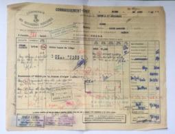 CONNAISSEMENT MARITIME - 1951 - ALGER Pour SAIGON - Fiscaux IMPOT Du TIMBRE Sur Document - Fiscale Zegels