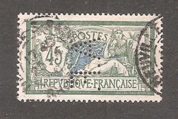 Perforé/perfin/lochung France Merson YT No 143 A.F. Succursale De La Badische Anilin Soda - France