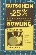 Ticket Biglietto Voucher  Bowling - Tickets D'entrée
