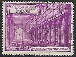 VATICAN  -  1949.  Y&T N°147 Oblitéré.  Basilique  St-Paul. Cote 20,00 Euros. - Vatican