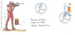 2006 Jeux Olympiques De Torino: Passage De La Flamme Olympique Au Touvet ( Henri Didon, Créateur De La Devise Olympique) - Winter 2006: Torino