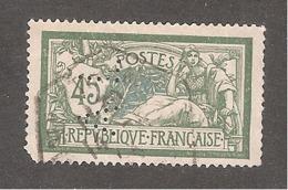 Perforé/perfin/lochung France Merson YT No 143 AL Aciéries De Mont Saint Martin Et Longwy (115) - France