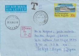 St Kits Aerogram 1988 - St.Kitts And Nevis ( 1983-...)