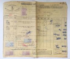 CONNAISSEMENT MARITIME - 1951 - ALGER Pour SAIGON - Fiscaux IMPOT DU TIMBRE + Connaissemnt INDOCHINE Sur Document - Fiscale Zegels
