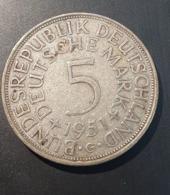 5 Deutsche Mark 1951 BUNDESREPUBLIK DEUTSCHLAND Circulated  Coin - Germany  (C0036) - [ 7] 1949-…: BRD