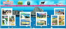 2007 France Portraits De Regions No.9 Flowers Sailing Boats  Tourism Miniature Sheet Of 10 MNH   @ BELOW FACE VALUE - Ongebruikt