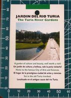 Minicards JARDIN DEL RIO TURIA Valencia SPAGNA - Autres