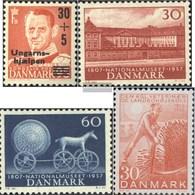 Denmark 366,367-368,369 (complete Issue) Volume 1957/58 Completeett Fine Used / Cancelled 1957 Ungarnhilfe, Museum, Scho - Denmark