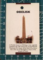 Minicards OBELISK Istambul TURCHIA - Autres