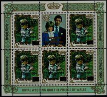 PENRHYN 1984 ROYAL WEDING HRH THE PRINCE OF WALES MINI SHEET MI No 398-401 MNH VF!! - Penrhyn