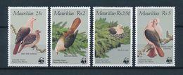 Mauritius 1985 Mi.No. 609 - 612 Birds Pink Pigeon 4v MNH** 50,00 € - Mauritius (1968-...)