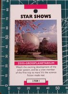 Minicards STAR SHOWS Zeiss-Großplanetarium Berlino GERMANIA - Autres Collections