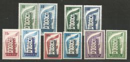 10 Stamps DIFFERENT - MNH - Europa-CEPT - Art - 1956 - See 2 Scan - 1956