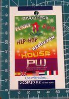 Minicards PW Penelope Wednesdays Discoteca Madrid SPAGNA Entrata Sconto - Autres