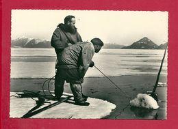 C.P. Esquimaux  -  Eskimos  = Pêche  Au  Naval - América