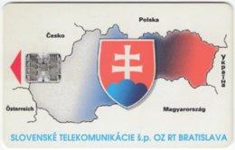 SLOVAKIA C-210 Chip Telekom - Map, Slovakia - Used - Croatie